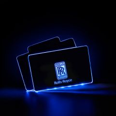 Rolls Royce Compatible Illuminated Automobile Floor Mat Plate