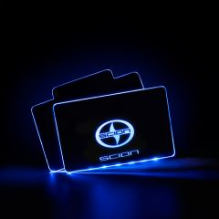 Scion Compatible Illuminated Automobile Floor Mat Plate
