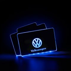 Volkswagen Compatible LED Floor Mats Illuminated Plates