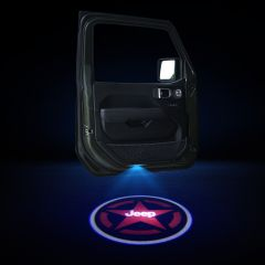 JEEP Compatible Car Door Ghost Shadow Light With LOGO