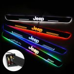 JEEP Compatible Batteries Powered LED Door Sills Trim Plates