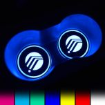 Mercury Compatible LED Car Cup Holder Coaster