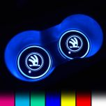 Skoda Compatible LED Car LOGO Cup Holder Lights