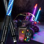 Premium Version 360 Degree Spiral Multi-Color LED Antenna Whip Lights With APP Bluetooth Control Or Remote Control