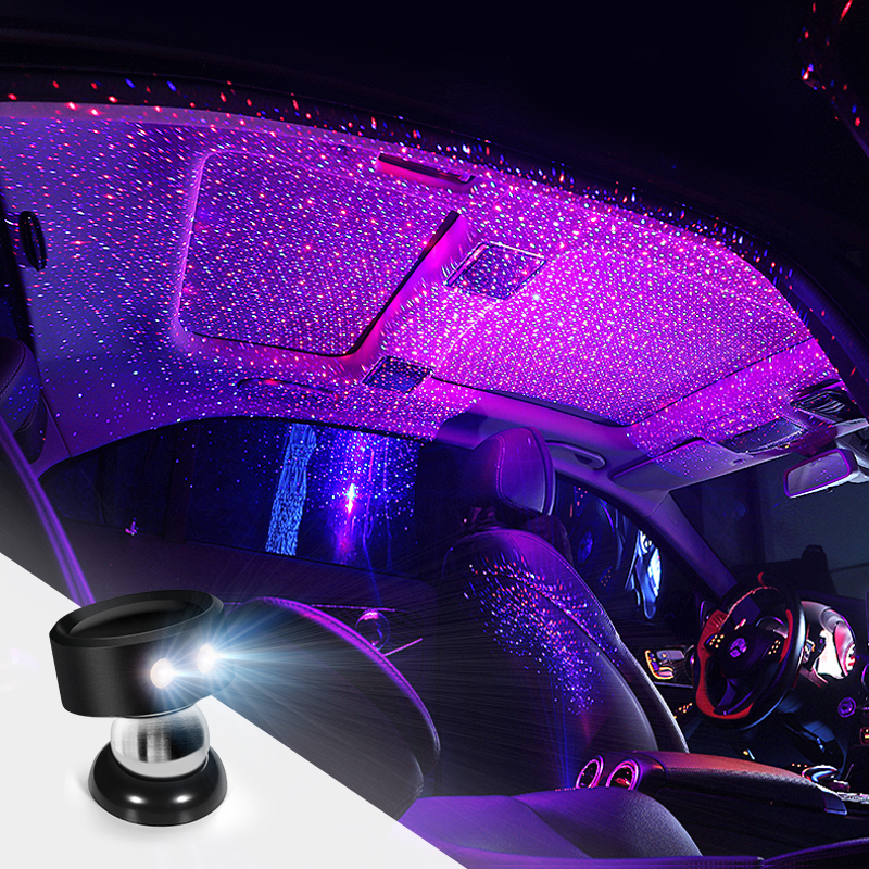 led car interior starry light