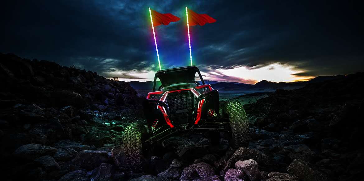 Light up the off-road racing with LED Whip lights