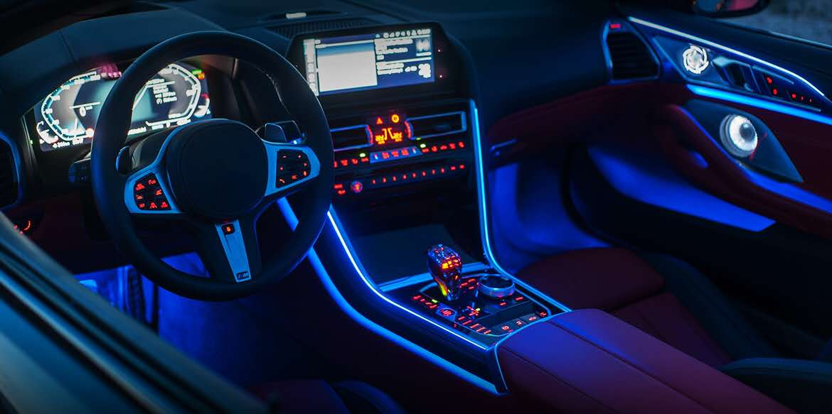 LED accent light: Impact of lights and color on a driver's mood